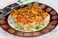 Фото к рецепту: Мясная запеканка с кабачками и помидорами