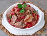 Фото к рецепту: Мясо, запечённое с вишней, в духовке