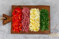 Салат с огурцами, болгарским перцем и копченым сулугуни - рецепт пошаговый с фото