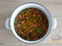 Быстрый рисовый суп с колбасой и огурцами - рецепт пошаговый с фото