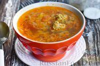 Фото к рецепту: Капустный суп с фрикадельками