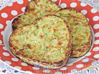 Фото к рецепту: Кабачковые оладьи с сыром, без муки (в духовке)