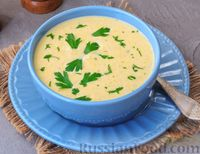 Фото к рецепту: Куриный суп-пюре с грибами, кабачком и плавленым сыром
