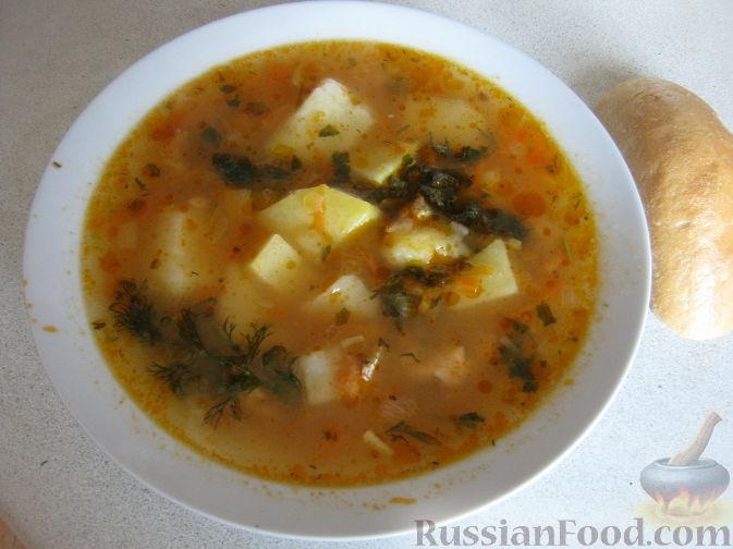 Рецепт Суп с бычками в томате