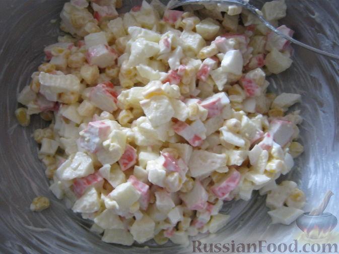 кукурузный салат с крабовыми палочками рецепт