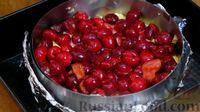 Фото приготовления рецепта: Простой пирог с вишней - шаг №9