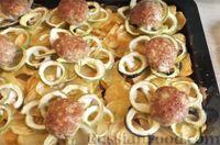 Фото к рецепту: Котлеты с кабачками и картофелем, запечённые в духовке