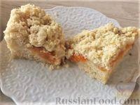 Фото к рецепту: Абрикосовый пирог с посыпкой (штрейзелем)