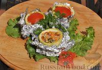 Фото к рецепту: Овощные бочонки из кабачков (на углях)
