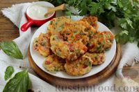Фото к рецепту: Сырники с колбасой, грибами и помидорами