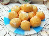 Фото к рецепту: Пончики на кефире, жаренные во фритюре