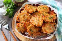Фото к рецепту: Рубленые куриные котлеты с помидорами и зеленью