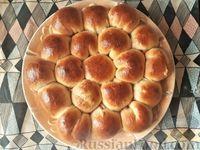 Фото к рецепту: Отрывной пирог с персиками