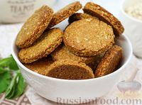 Фото к рецепту: Овсяное печенье без яиц