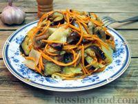Фото к рецепту: Салат с жареными овощами и грибами, по-корейски