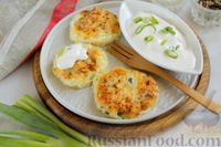 Фото к рецепту: Творожные сырники с картофелем и зелёным луком (без яиц)