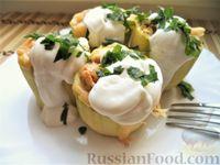 Фото к рецепту: Кабачки, фаршированные мясом и рисом