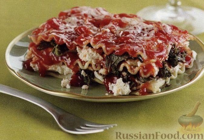 Рецепт Вегетарианская лазанья с капустой кале