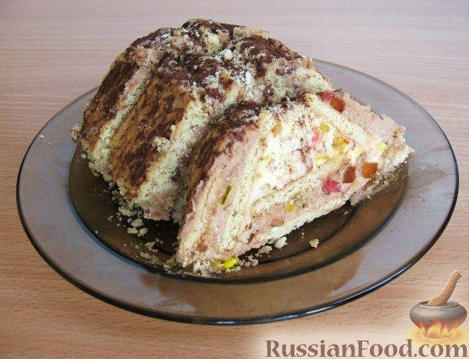 торт без выпечки домик рецепт