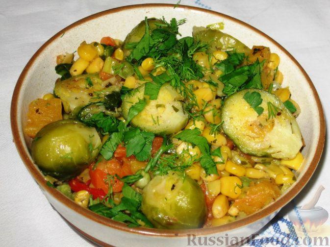 Рецепт Овощное рагу с брюссельской капустой
