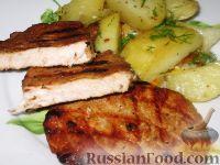 Фото к рецепту: Свинина маринованная жареная