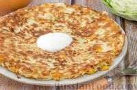Блинчики с капустой и яйцом - рецепт пошаговый с фото