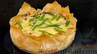 Фото к рецепту: Пирог из лаваша с курицей, грибами и сыром