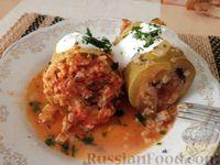 Фото к рецепту: Кабачки фаршированные (овощные)