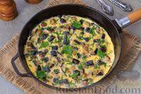 Омлет с баклажанами на сковороде - рецепт пошаговый с фото