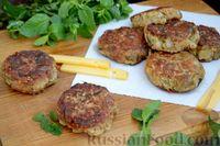 Фото к рецепту: Котлеты из баклажанов с сыром и мятой