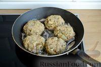 Фото приготовления рецепта: Котлеты из баклажанов с сыром и мятой - шаг №11