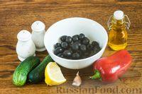 Весенний салат со свежим огурцом и маслинами - рецепт пошаговый с фото