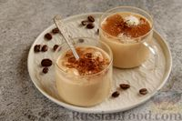 Фото к рецепту: Бананово-кофейный смузи с творожно-кокосовыми шариками