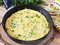 Фото приготовления рецепта: Омлет с манной крупой и сыром - шаг №10