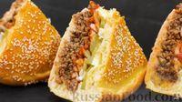 """Фото приготовления рецепта: Мясной пирог """"Чизбургер"""" - шаг №15"""