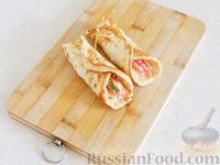 Блин с отрубями, помидорами и сыром - рецепт пошаговый с фото