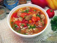 Фото к рецепту: Мастава (узбекский суп) с фрикадельками
