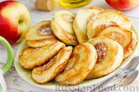Фото к рецепту: Оладьи на кефире, с яблочным припёком