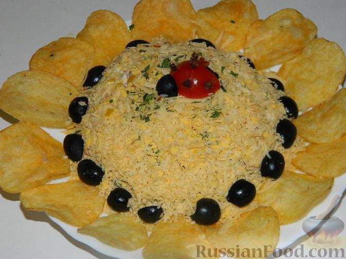 салат подсолнух с тунцом рецепт