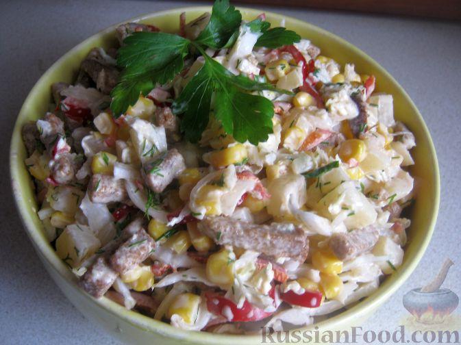 салат для гостей легкий рецепт
