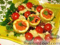 Фото к рецепту: Салат с фаршированными кабачками