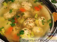 Фото к рецепту: Суп с рыбными фрикадельками
