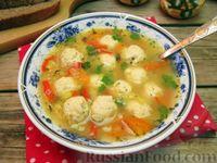 Фото к рецепту: Гороховый суп с куриными фрикадельками