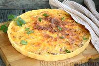 Фото к рецепту: Пирог с ветчиной и луком