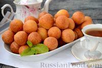 Фото к рецепту: Творожные пончики из сладких сырков