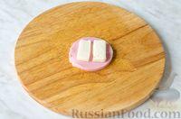 Фото приготовления рецепта: Оладьи с колбасой и сыром - шаг №7