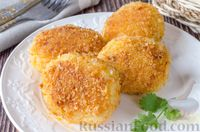 Фото к рецепту: Рисовые котлеты с луком и морковью