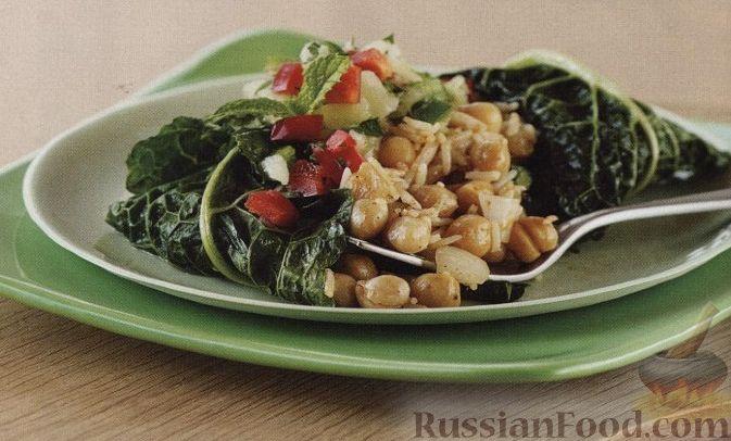 Рецепт Вегетарианские голубцы с рисом и нутом