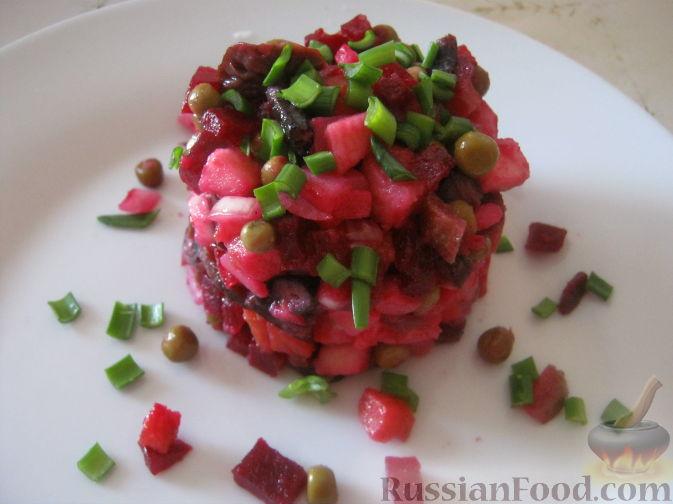 Рецепт Винегрет с солеными грибами