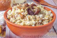"Фото приготовления рецепта: Каша ""Дружба"" из риса, гречки и пшена, с лесными грибами - шаг №10"